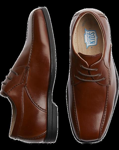Florsheim Rolan Cognac Brown Boys Bike Toe Oxfords - Men's Shoes | Men's  Wearhouse