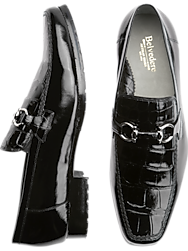 Belvedere Plato Black Bit Loafers