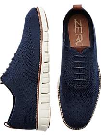 Mens Shoes, Polished Casual - Cole Haan Zerogrand Stitchlite Navy Wingtip Oxfords - Men's Wearhouse