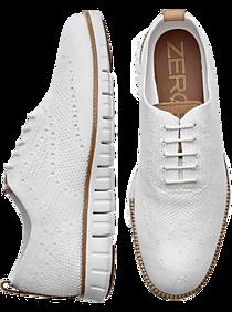 Mens - Cole Haan Zerogrand Stitchlite White Wingtip Oxfords - Men's Wearhouse