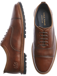 Cole Haan Raymond Grand Cognac Cap Toe Oxfords