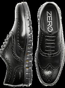 Mens - Cole Haan Zerogrand Black Wingtip Oxfords - Men's Wearhouse
