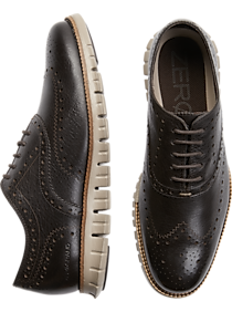 Mens Oxfords, Shoes - Cole Haan Zerogrand Brown Wingtip Oxfords - Men's Wearhouse