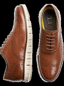 Mens Shoes - Cole Haan Zerogrand Tan Wingtip Oxfords - Men's Wearhouse