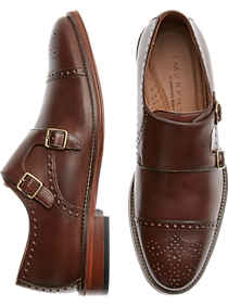 Johnston & Murphy Hughes Brown Double Monk Strap Cap Toes