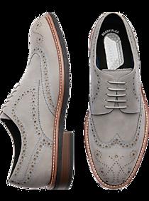 1930s Men's Shoe Styles, Art Deco Era Footwear Awearness Kenneth Cole AWEAR-TECH Kite Flex Gray Wingtip Derbys $124.99 AT vintagedancer.com