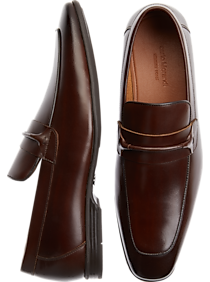 Carlo Morandi Brown Apron Toe Loafers