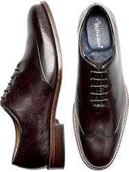 Belvedere Spencer Burgundy Laser Wingtip Oxfords