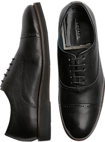 Mens Dress Shoes, Shoes - Zanzara McCartney Black Cap-Toe Oxfords - Men's Wearhouse