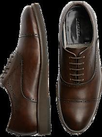 Mens Dress Shoes, Shoes - Zanzara McCartney Brown Cap-Toe Oxfords - Men's Wearhouse