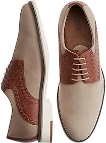 1940s Men's Fashion, Clothing Styles Johnston  Murphy Reedy Beige Saddle Lace Ups $139.99 AT vintagedancer.com
