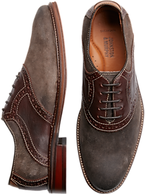 Mens Casual Shoes, Shoes - Johnston & Murphy Warner Dark Gray Saddle Oxfords - Men's Wearhouse