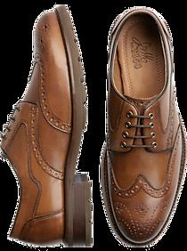 Mens Casual Shoes, Shoes - Johnston & Murphy Fullerton Cognac Wingtip Derbys - Men's Wearhouse