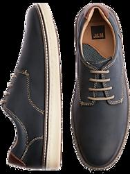 Johnston & Murphy McGuffey Navy Plain Tie Leather