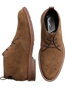 Mens Boots, Shoes - Reaction Kenneth Cole Klay Flex Tan Chukka Boots - Men's Wearhouse
