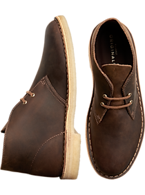 Mens Boots, Shoes - Clarks Brown Desert Boot - Men's Wearhouse