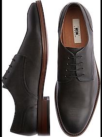 Mens Joseph Abboud, Shoes - Joseph Abboud Saffiano Charcoal Plain Toe Derbys - Men's Wearhouse