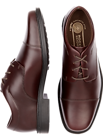 Mens Shoes, Sale - Rockport Ellingwood Burgundy Waterproof Lace Up Casual Shoes - Men's Wearhouse
