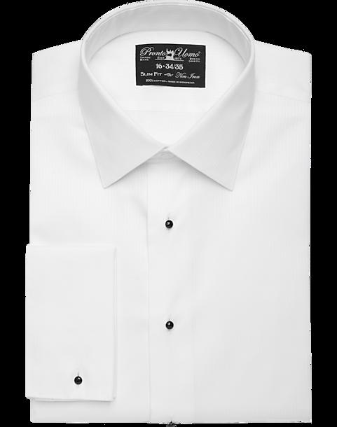 Pronto Uomo White Slim Fit Tuxedo Shirt - Men's Shirts | Men's Wearhouse