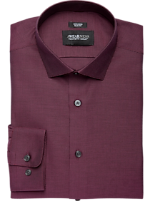 Mens Awearness Kenneth Cole, Shirts - Awearness Kenneth Cole Burgundy Tic Slim Fit Dress Shirt - Men's Wearhouse