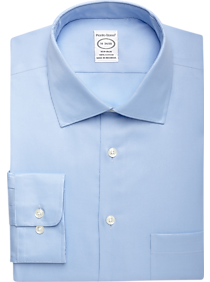 Pronto Uomo Blue Queen's Oxford Non-Iron Dress Shirt