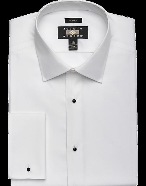 Joseph Abboud White Slim Fit Tuxedo Dress Shirt - Men's Shirts | Men's  Wearhouse