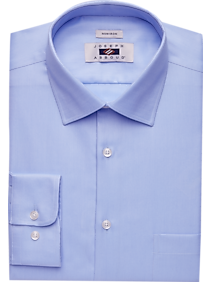 Mens - Joseph Abboud Blue Twill Dress Shirt - Men's Wearhouse