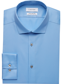 Mens Home - Calvin Klein Infinite Non-Iron Light Blue Slim Fit Stretch Dress Shirt - Men's Wearhouse
