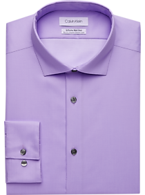 Mens Shirts - Calvin Klein Infinite Non-Iron Lavender Slim Fit Stretch Dress Shirt - Men's Wearhouse