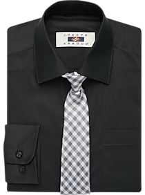 Mens Boys Shirts, Shirts - Joseph Abboud Boys Black Dress Shirt & Bow Tie Set - Men's Wearhouse