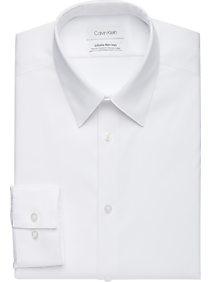 Mens Home - Calvin Klein Infinite Non-Iron White Slim Fit Stretch Dress Shirt - Men's Wearhouse