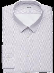Mens Non-Iron Dress Shirts, Shirts - Calvin Klein Fig Print Slim Fit Dress Shirt - Men's Wearhouse