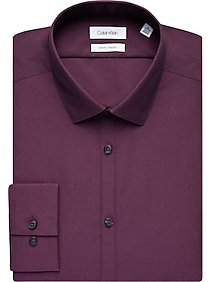 Mens Shirts - Calvin Klein Purple Slim Fit Dress Shirt - Men's Wearhouse