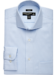 Pronto Uomo Blue Check Dress Shirt