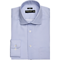 Pronto Uomo Blue Geometric Slim Fit Dress Shirt