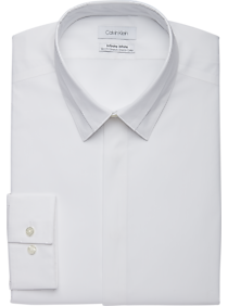 Mens French Cuff Dress Shirts, Shirts - Calvin Klein Infinite Non-Iron White Split Collar Slim Fit Formal Dress Shirt - Men's Wearhouse