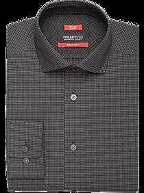 Awearness Kenneth Cole AWEAR-TECH Black Check Dress Shirt
