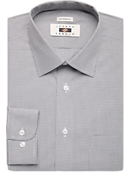 Joseph Abboud Charcoal Mini check Dress Shirt