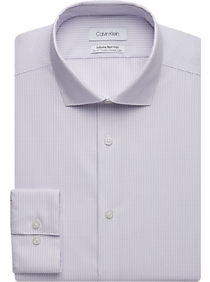 Calvin Klein Infinite Purple Check Slim Fit Dress Shirt