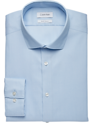 Calvin Klein Light Blue Slim Fit Dress Shirt