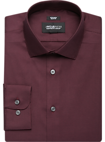 Awearness Kenneth Cole Burgundy Slim Fit Dress Shirt