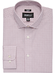 Awearness Kenneth Cole Burgundy Check Slim Fit Dress