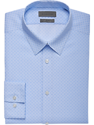 Calvin Klein Blue Ice Slim Fit Dress Shirt