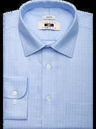 Joseph Abboud Blue Check Classic Fit Dress Shirt