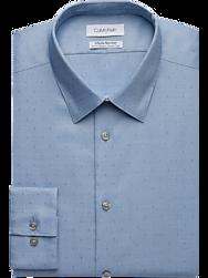 Calvin Klein Infinite Blue Textured Slim Fit Dress