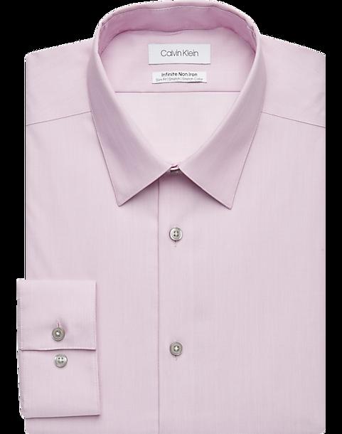 Calvin Klein Infinite Non Iron Mulberry Slim Fit Dress Shirt