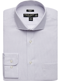 Mens Shirts Starting at $25 Each When You Buy 4 or More, Shirts - Pronto Uomo Lavender Mini Dot Slim Fit Dress Shirt - Men's Wearhouse