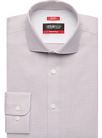 Mens Shirts - Awearness Kenneth Cole AWEAR-TECH Cole Berry Mini Check Slim Fit Dress Shirt - Men's Wearhouse