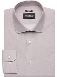 Awearness Kenneth Cole Burgundy Pattern Slim Fit Dress