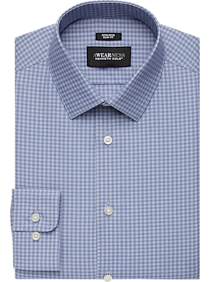 Mens Awearness Kenneth Cole, Shirts - Awearness Kenneth Cole Blue Check Slim Fit Dress Shirt - Men's Wearhouse